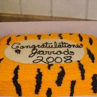 Wildcat Cake For a graduation party for a graduate of a school where wildcats or tigers are the school mascot. (we made this awhile ago and I don't...