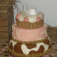 Abby.jpg This cake was made with love for my niece's 2nd birthday. The party was a western theme with a girly twist. The cake was inspired by &...