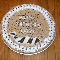 Father's Day Cookie Cake Giant cookie made with a doctored cake mix. Frosting is regular BC.