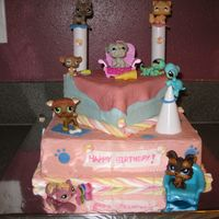 Littlest Pet Shop Cake Abirthday cake for my daughter's 5th birthday.