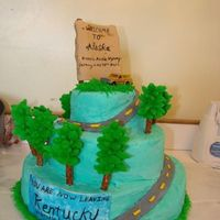 Moving To Alaska I made this cake for my husbands reenlistment party. He/we signed up to move from Kentucky to Alaska.