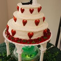 St. Patrick's Day Wedding Cake This is my first wedding cake or teir cake I have done. I did it for a friends St. Patrick's Day wedding. It is cheese cake with a...