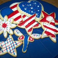 Memorial Day Cookies rolled sugar cookies with glace