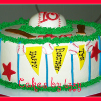 Tye's Baseball Cake another baseball cake! they seem to be very popular this time of year. butter cake with cream cheese added to the batter. oreo cookie...