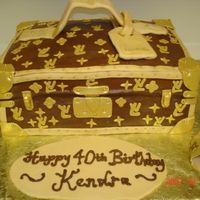 Louis Vuitton Beauty Case This is a cake of a Louis Vuitton Beauty Case that someone wanted for their 40th Birthday. She emailed me the picture and said this is what...