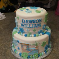 Dawsons Baby Shower This was for my cousins baby shower. Dawson was born 16 weeks early but doing very well and will love all the pictures of his yummy cake....