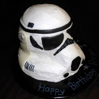 Star Wars Stormtrooper Buttercream w/ MMF accents.