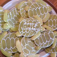 Sea Turtle Cookies   me and my boyfriend decorated these for his mom for her birthday