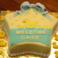 Welcome Baby 1   Fondant and buttercream