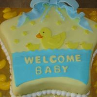 Welcome Baby 2   Fondant and Buttercream