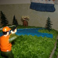 Deer Hunters Dream - The Great Outdoors I made this cake for my associate pastors birthday. He loves to deer hunt.