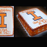 "Illinois Grad Cake ....my first ""real"" cake. This cake was for my cousin's high school graduation party. They wanted something different, so we..."