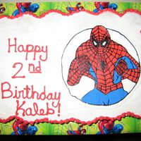 Spiderman Cupcake Cake This was my 1st cupcake cake and 3rd FBCT. I was happy with it but don't think I like the cupcake cake as much. Should have used my...