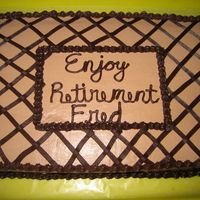 Man's Retirement Cake