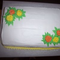 Genral Cake With Flowers