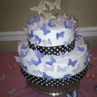 Butterfly Baby Shower Baby shower cake with butterfly theme