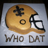 New Orleans Saints Helmet Buttercream with candy fleur de lis, airbrushed helmet.