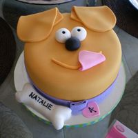 Puppy Face Birthday Cake I made this cake for my 4-year-old niece, Natalie, who requested a birthday cake that looked like my dog. I'm proud of the cake .. but...
