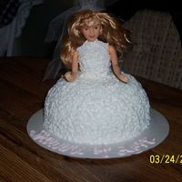 My 1St Doll Cake Made for a bridal luncheon as a centerpiece.