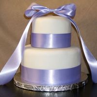 Purple Ribbon Cake   Purple Ribbon Cake