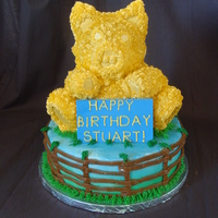 Golden Pig This cake was for a little boy who was born in the year of the Golden Pig, it happens once every 60 years. Wilton bear pan-pistachio cake,...