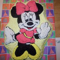 Minnie Mouse Vanilla cake with Buttercream Dream icing.