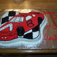 Race Car Cake I made this cake for my nephew yesterday. I was pleased with it and he loved it. It was my first time using a character cake pan.