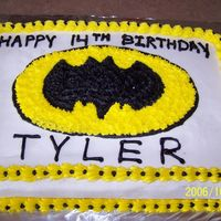 Batman Cake Had little time to devote to this cake and it certainly shows. Thanks to Melony1976 for the inspiration, although my cake in no way looks...