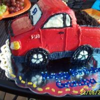 Ford F 150 Truck Sculpture Birthday Dirt This was for my grandpa who loves his ford! the back is full of oreo crumbs to look like dirt! It wasnt well supported and in transporting...