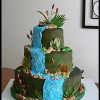 Out Door Wedding Cake