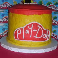 Play Doh Cake This is my fist time working with fondant of any kindi learned a lot from this but thought it turned alright9 in rounds stacked iced in...