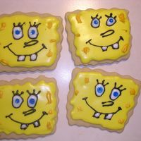 Sponge Bob Cookies made for my sons mothers day outthis is my first attempt at cookies since joining this site i've learned so much in a short timeused...