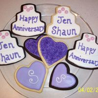 Anniversary Cookies These are cookies I made for a friends anniversary.