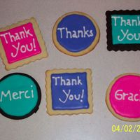 Thank You Cookies These are thank you cookies for the people that I work with.