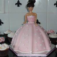Doll /barbie/pink Cake My first attempt at a doll shaped cake, made for my grand daughters 4th birthday, i sliced it through the middle and filled it with jam and...