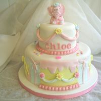 Chloe's 1St Birthday Cake A sponge cake i made for my grand daughters 1st birthday last week, with lots of added fondant decorations