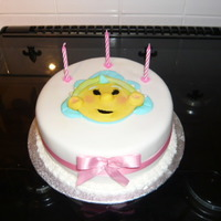 Fifi Cake Fifi face cake, a small cake made for my grand daughter, who loved fifi at the time, the face is all made from fondant.