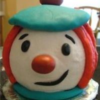 "Jo Jo The Clown This little ""smash"" cake was in addition to the big Jo Jo's Circus cake I did. When I told her grandma that I was going to..."