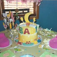 Baby Shower 2 Tier Cake THIS IS A BETTER VIEW OF THE BABY SHOWER CAKE THAT I DID.