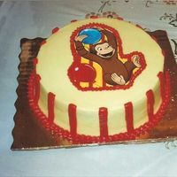Curious George THIS CAKE WAS FOR A LITTLE BOY WHO WAS TURNING 1 YEARS OLD AND HE LOVES CURIOUS GEORGE.