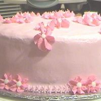 Pretty In Pink This was a just for fun cake. It's all buttercream. I made if for my boyfriends Mom to take to work to share with her co-workers. It&#...
