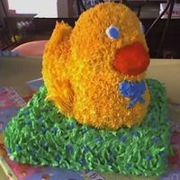 Ducky  This was my 1st attempt to the duck cake. There are for sure some flaws but I was happy w/ it. I wanted to do something different besides...