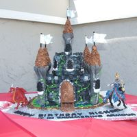 Castle Birthday Cake For Son   My first castle cake but not my last! This was fun!