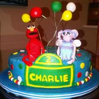 Elmo And Abby 2-year-old requested an Elmo and Abby cake. Elmo...no problem. Abby...not so much.