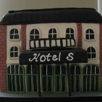 Groom's Cake I was asked to make a groom's cake to look like a historic hotel. Thankfully, given my inexperience, that didn't specify which...