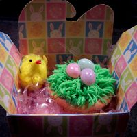 Easter Cupcake Chocolate cupcake, buttercream icing, jelly beans