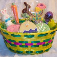 Easter Basket NFSC and molded chocolate candy