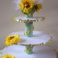Floral Cupcake Stand