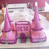 Castle Cake   This is a cake that I made for a friend's birthday. I am just getting starting making cakes for friends. I love it!