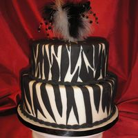 Zebra Cake This is probably my favorite dummy I made for this show. Feathers and beads on wire adorn the top. My husband says it's not a wedding...